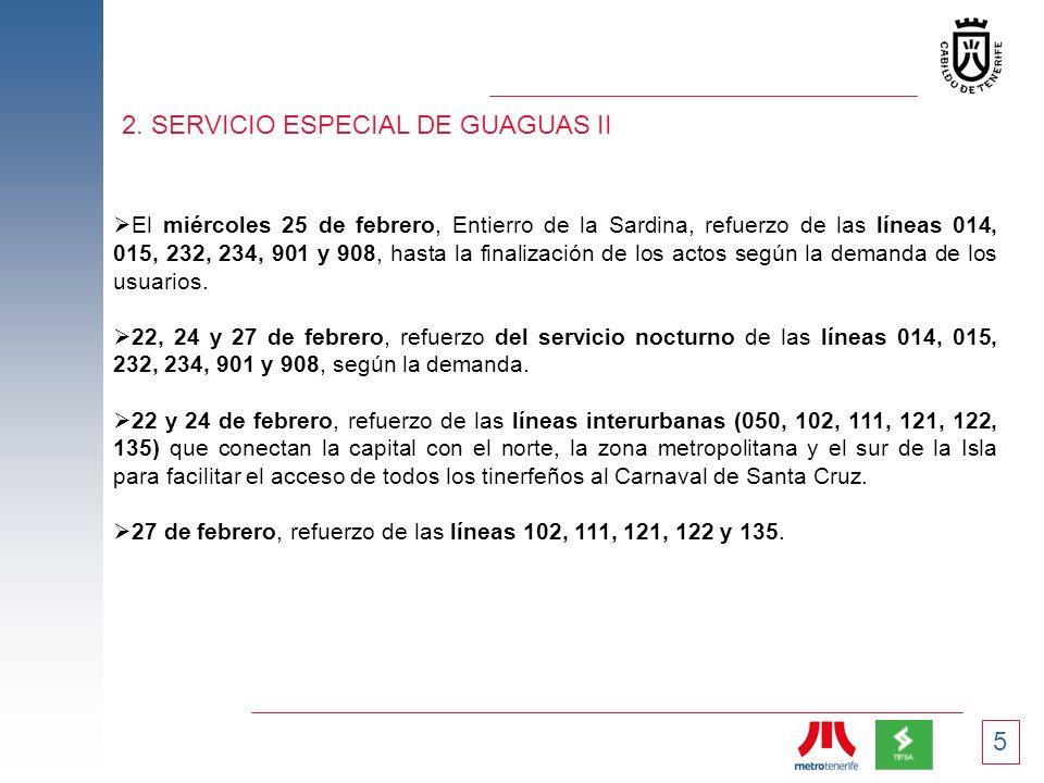 2. SERVICIO ESPECIAL DE GUAGUAS II