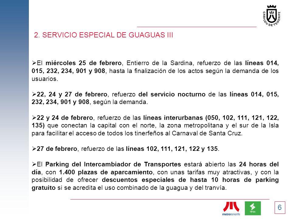 2. SERVICIO ESPECIAL DE GUAGUAS III