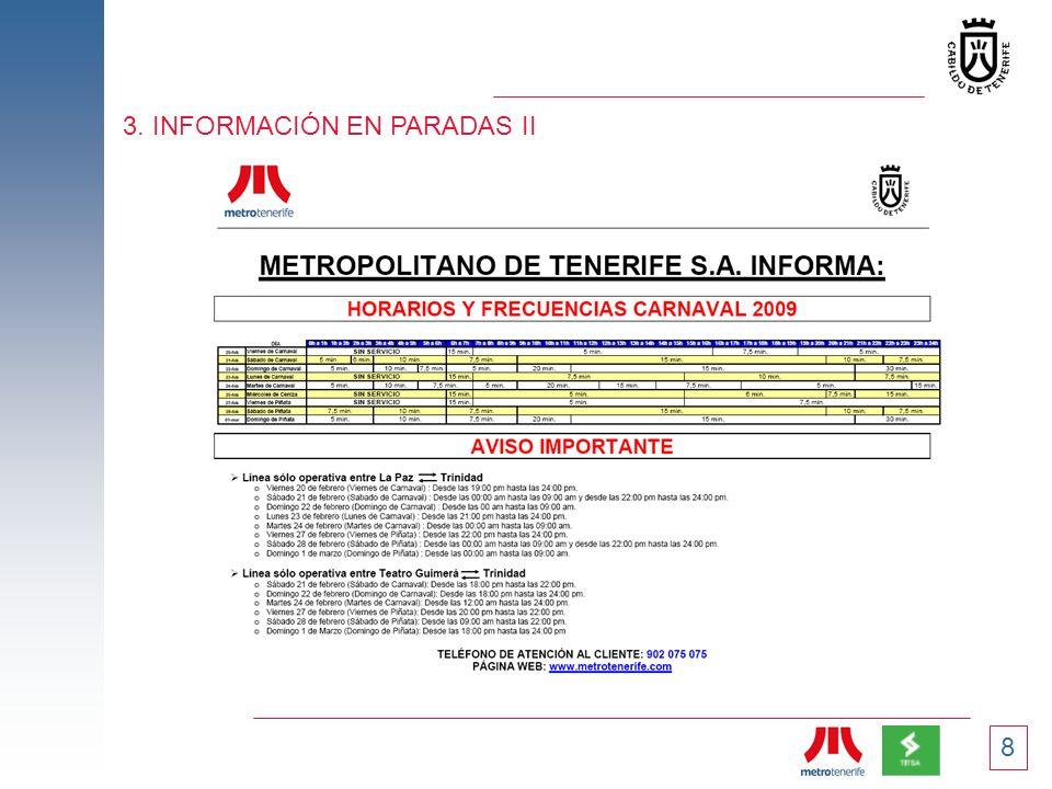 3. INFORMACIÓN EN PARADAS II
