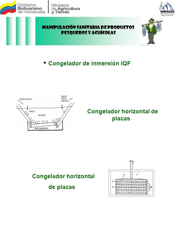 Congelador horizontal de placas Congelador horizontal