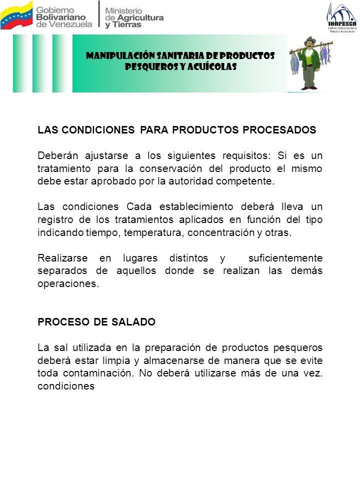 Manipulación Sanitaria de Productos