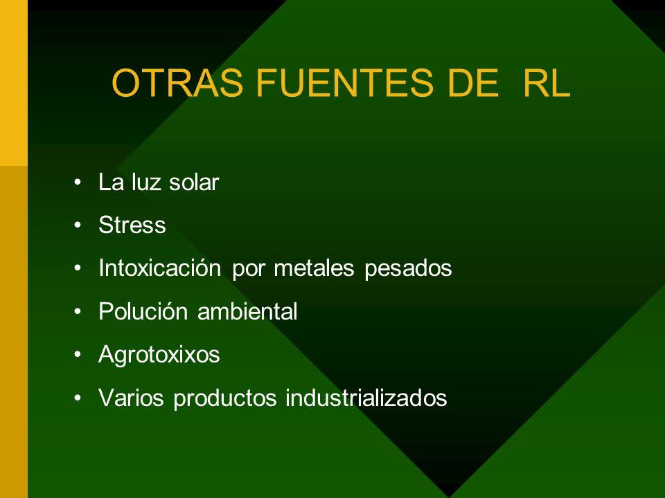 OTRAS FUENTES DE RL La luz solar Stress