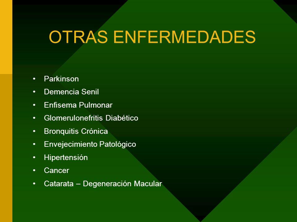 OTRAS ENFERMEDADES Parkinson Demencia Senil Enfisema Pulmonar