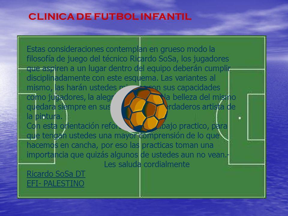 CLINICA DE FUTBOL INFANTIL