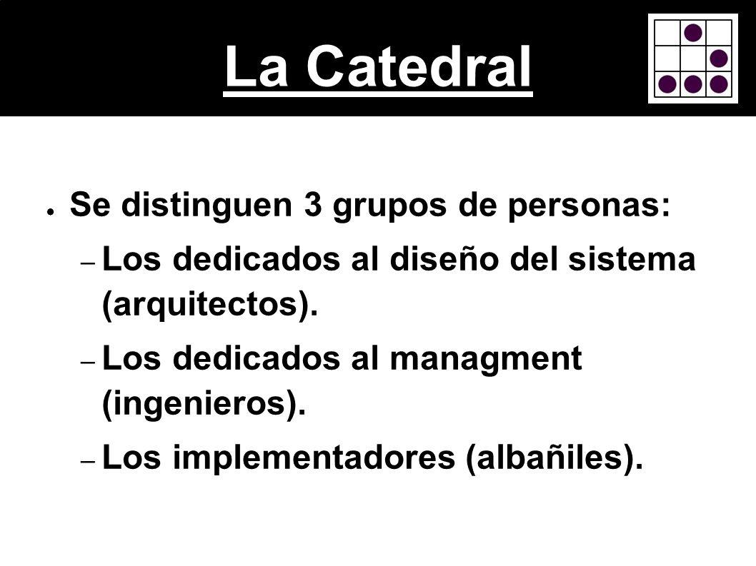 La Catedral Se distinguen 3 grupos de personas: