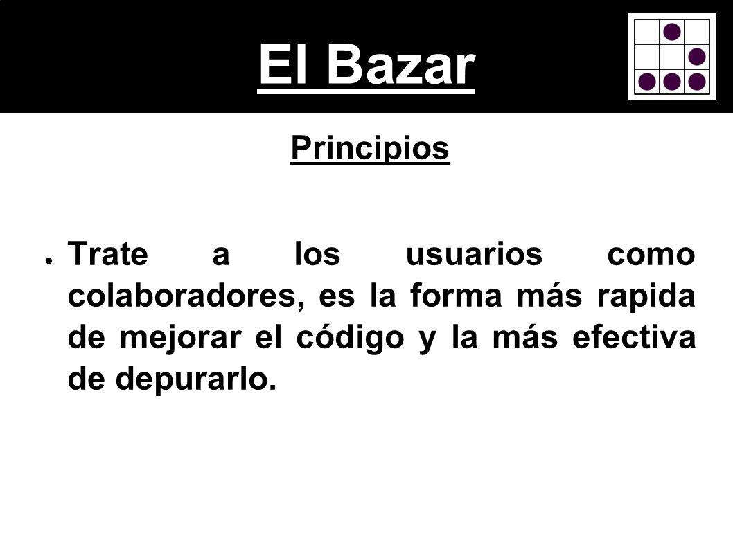 El BazarPrincipios.