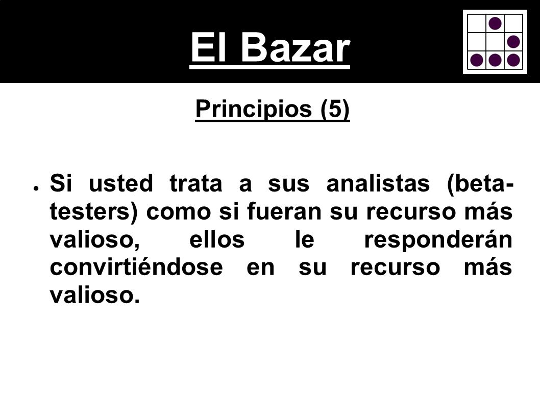 El BazarPrincipios (5)