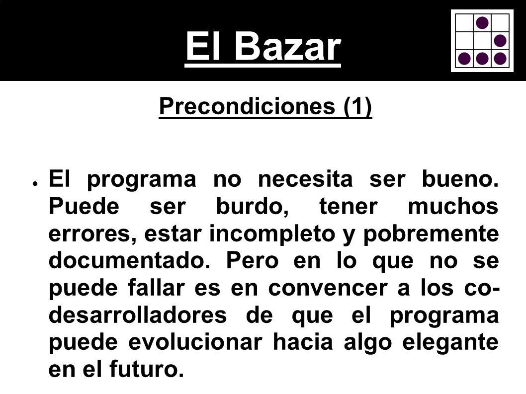 El Bazar Precondiciones (1)