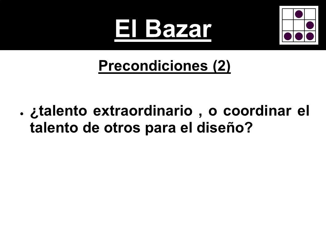 El Bazar Precondiciones (2)