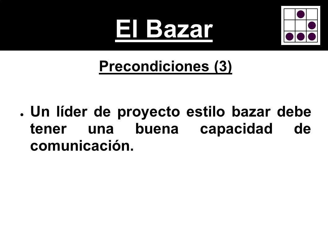 El Bazar Precondiciones (3)