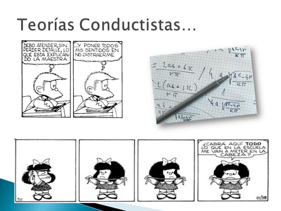 Teorías Conductistas…