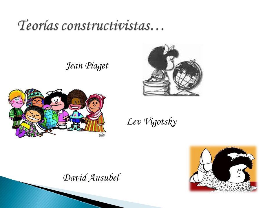 Teorías constructivistas…