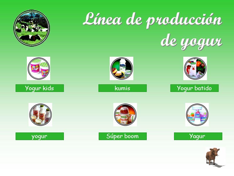 Línea de producción de yogur