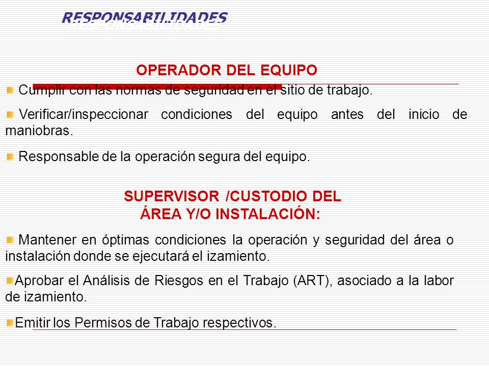 SUPERVISOR /CUSTODIO DEL