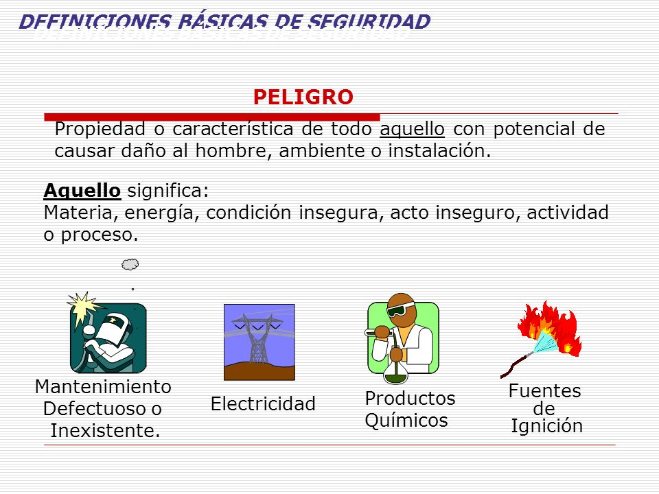 DEFINICIONES BÁSICAS DE SEGURIDAD DEFINICIONES BÁSICAS DE SEGURIDAD