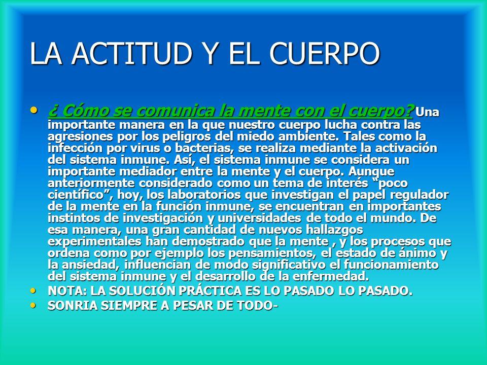 LA ACTITUD Y EL CUERPO
