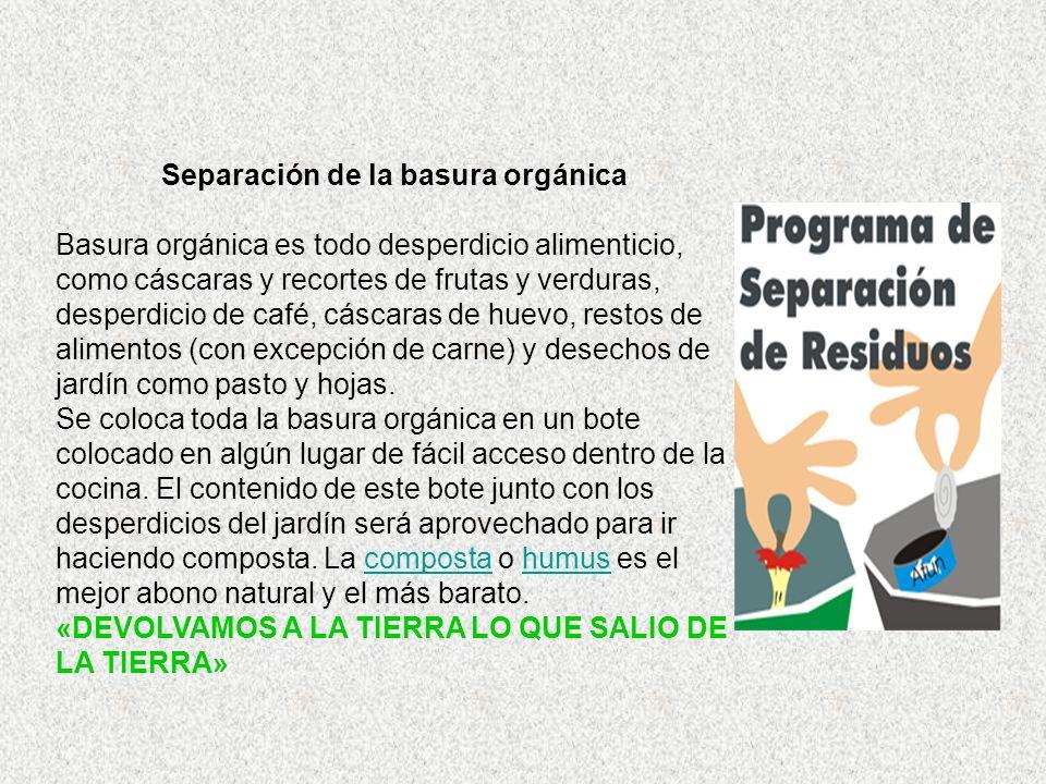 Separación de la basura orgánica