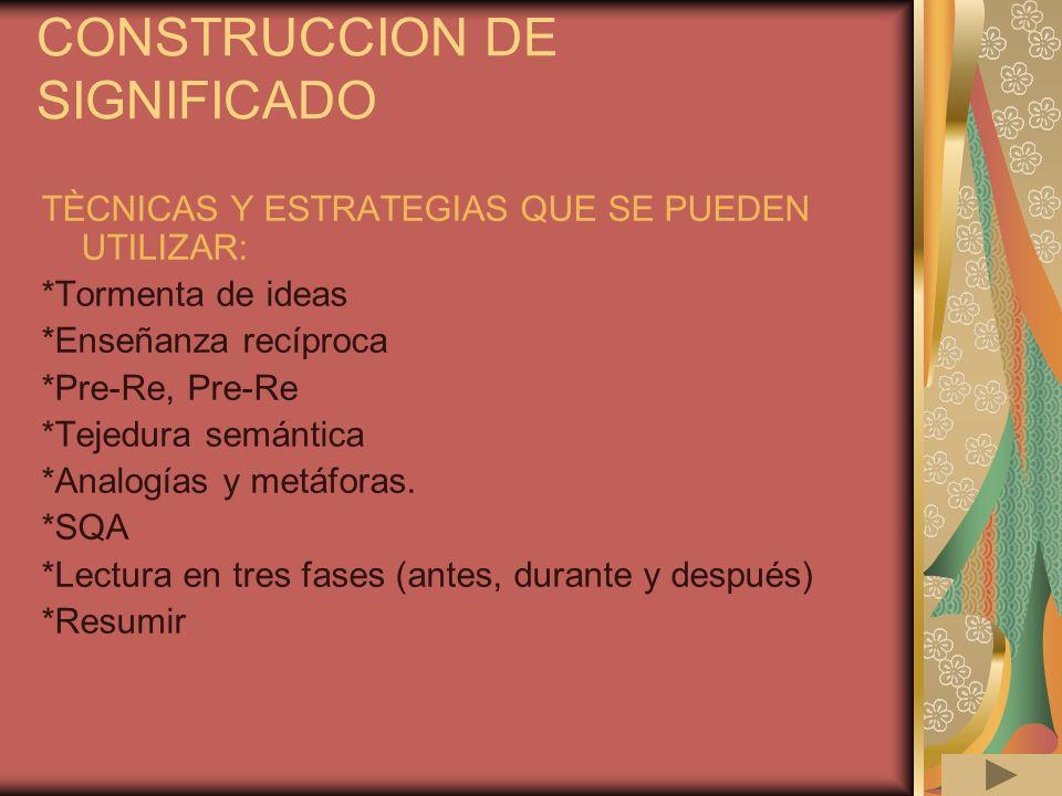 CONSTRUCCION DE SIGNIFICADO
