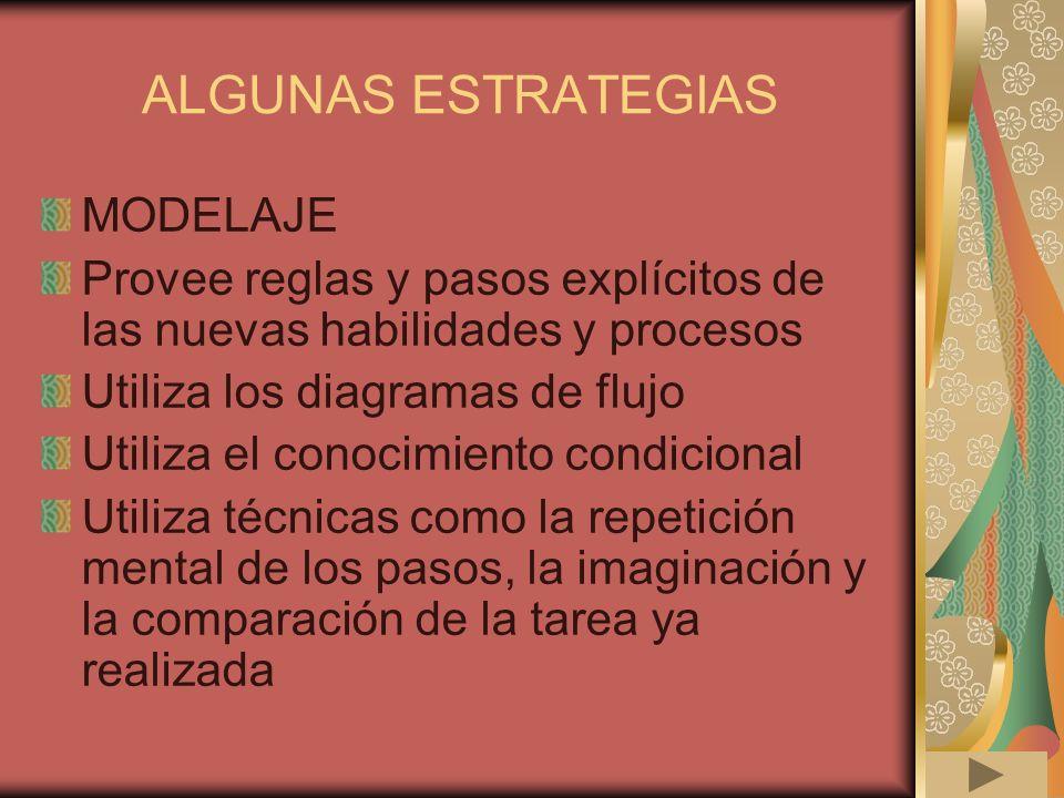 ALGUNAS ESTRATEGIAS MODELAJE