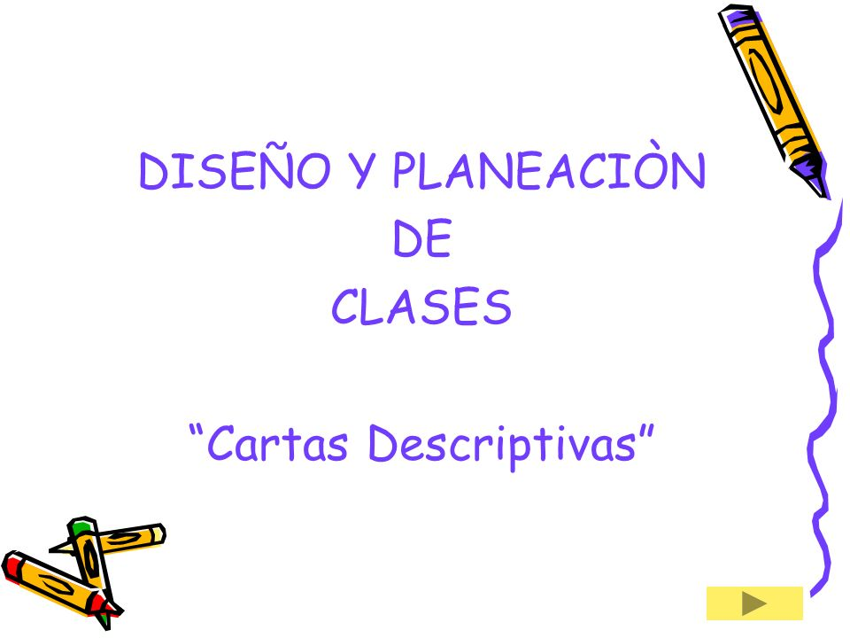 Cartas Descriptivas