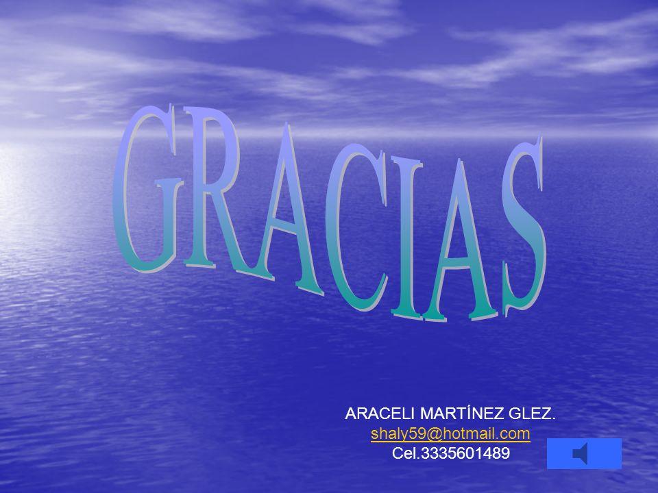 GRACIAS ARACELI MARTÍNEZ GLEZ. shaly59@hotmail.com Cel.3335601489