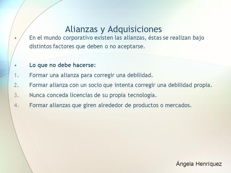 Alianzas y Adquisiciones