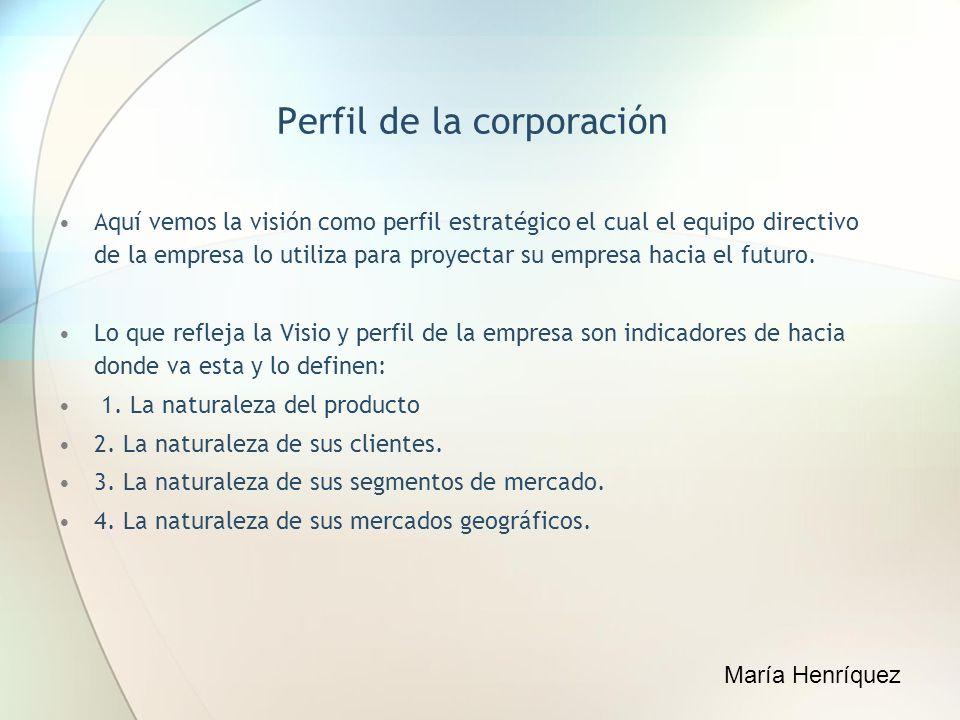 Perfil de la corporación