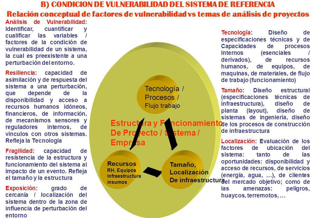 Estructura y Funcionamiento De Proyecto / Sistema / Empresa