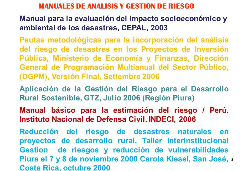 MANUALES DE ANALISIS Y GESTION DE RIESGO