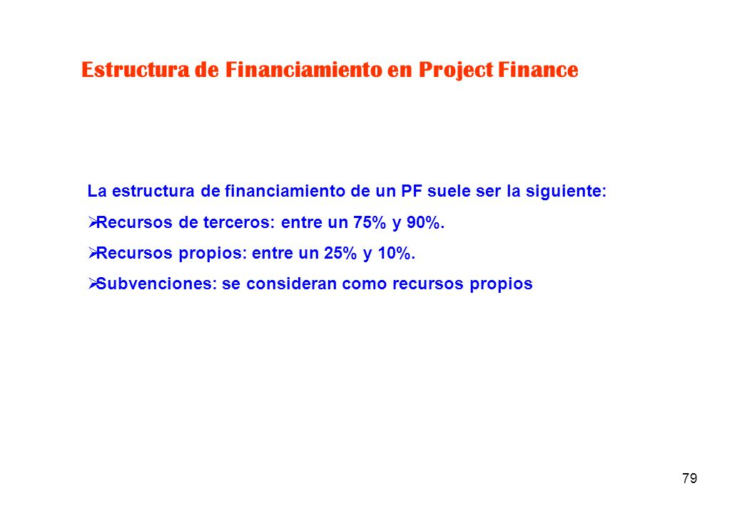 Estructura de Financiamiento en Project Finance