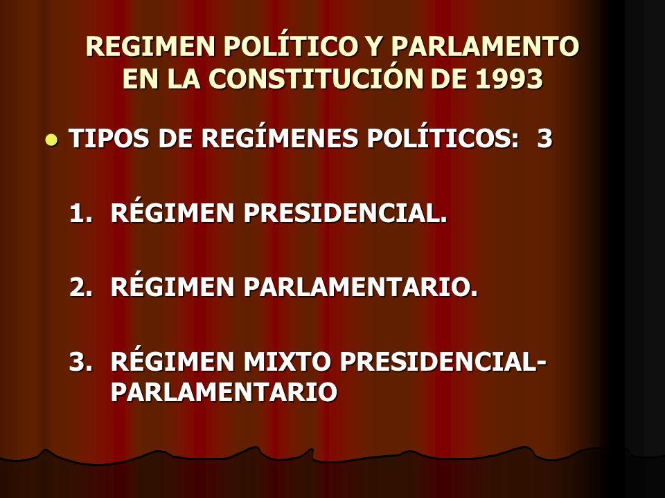 REGIMEN POLÍTICO Y PARLAMENTO EN LA CONSTITUCIÓN DE 1993