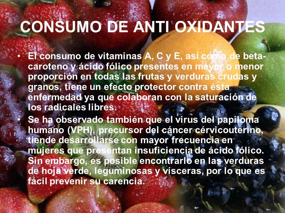 CONSUMO DE ANTI OXIDANTES