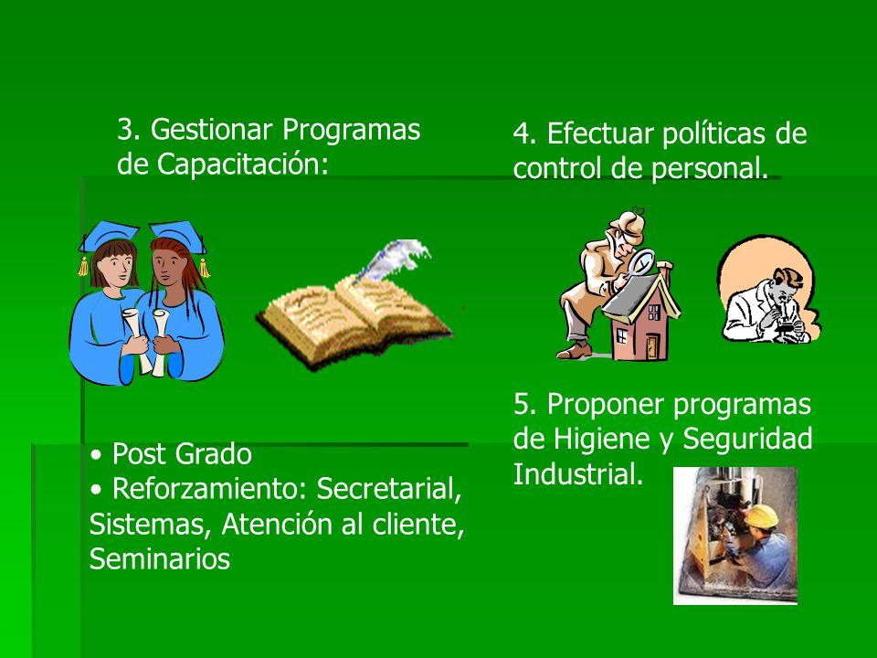 3. Gestionar Programas de Capacitación: