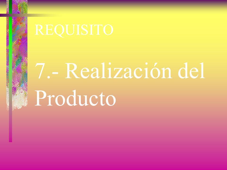 7.- Realización del Producto