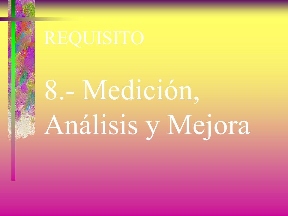 8.- Medición, Análisis y Mejora