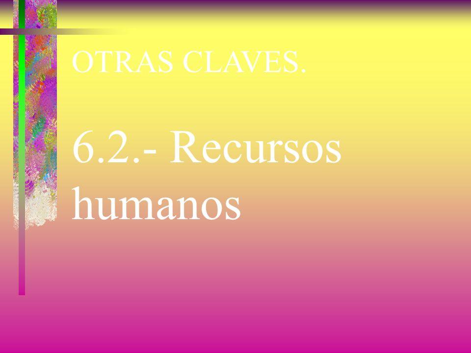 OTRAS CLAVES. 6.2.- Recursos humanos