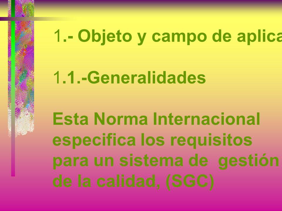 1.- Objeto y campo de aplicación