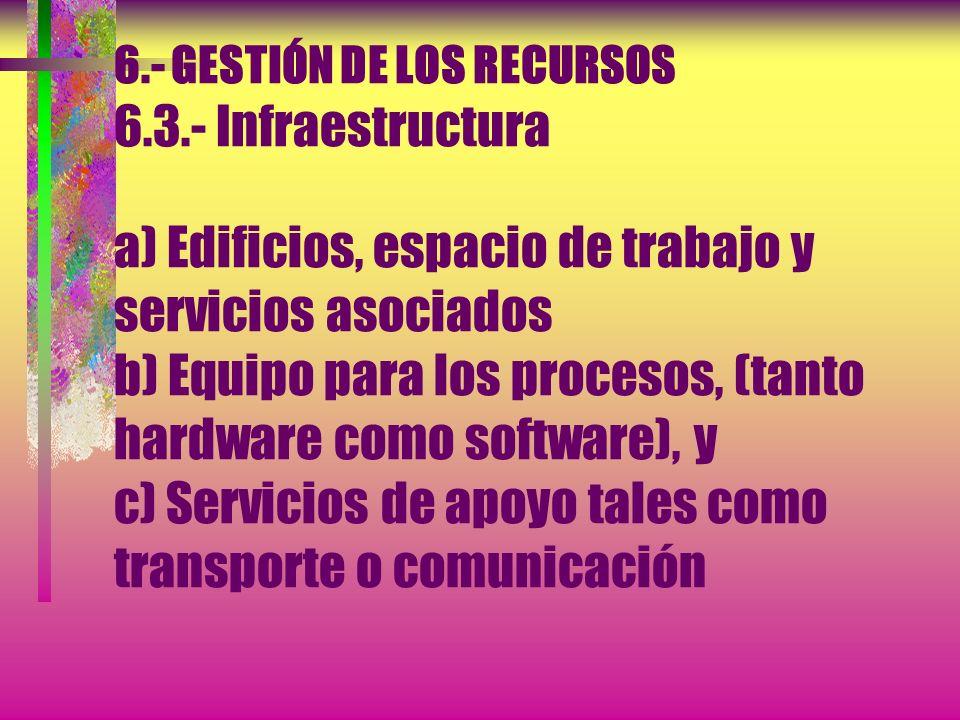 6. - GESTIÓN DE LOS RECURSOS 6. 3
