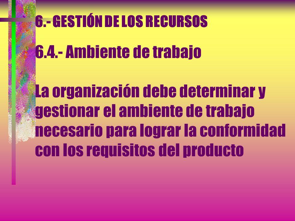 6. - GESTIÓN DE LOS RECURSOS 6. 4