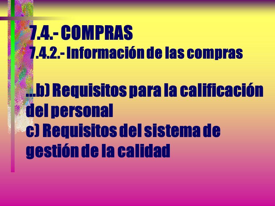 7. 4. - COMPRAS 7. 4. 2. - Información de las compras