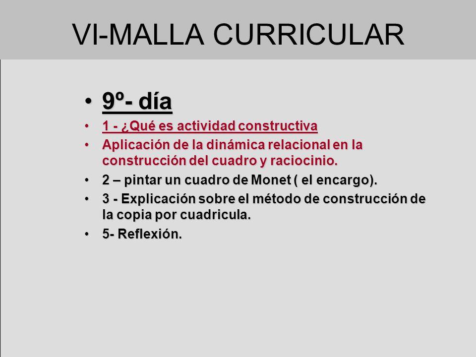 VI-MALLA CURRICULAR 9º- día 1 - ¿Qué es actividad constructiva