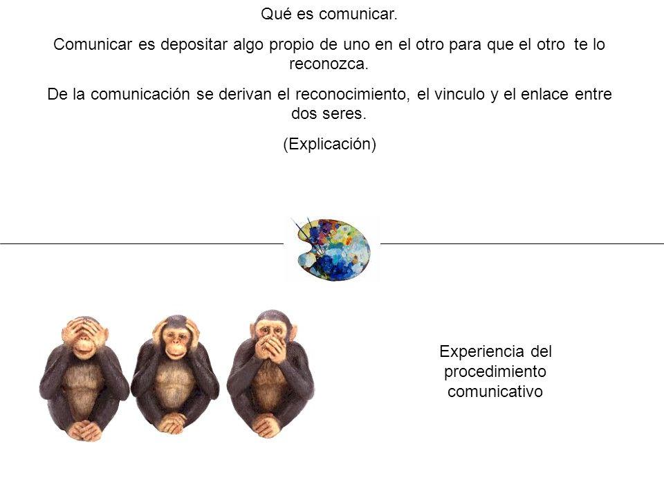Experiencia del procedimiento comunicativo