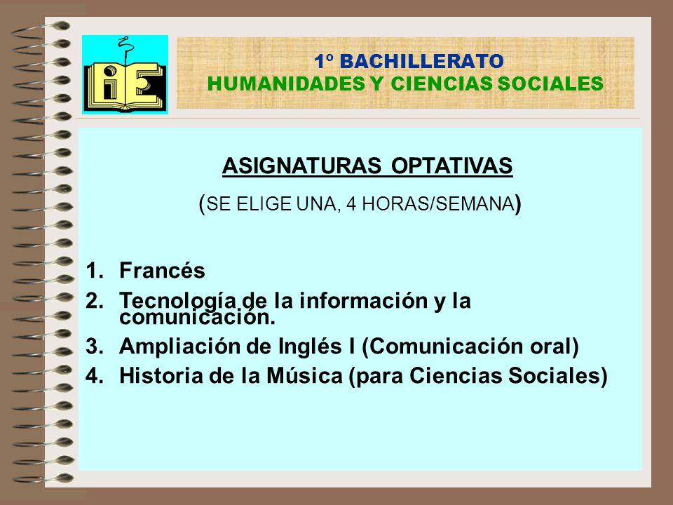 1º BACHILLERATO HUMANIDADES Y CIENCIAS SOCIALES