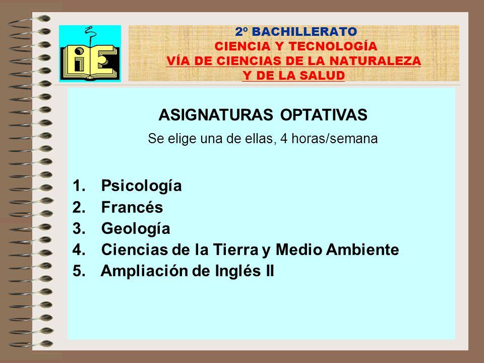 Ciencias de la Tierra y Medio Ambiente Ampliación de Inglés II