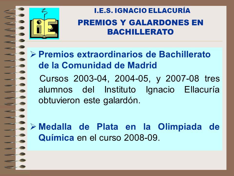 PREMIOS Y GALARDONES EN BACHILLERATO
