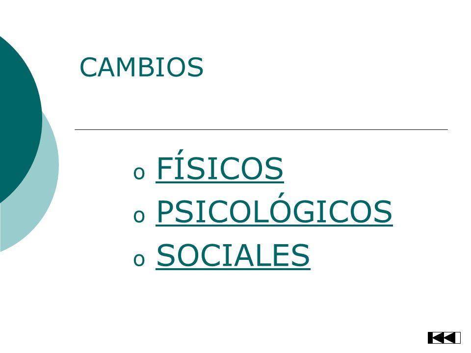 FÍSICOS PSICOLÓGICOS SOCIALES