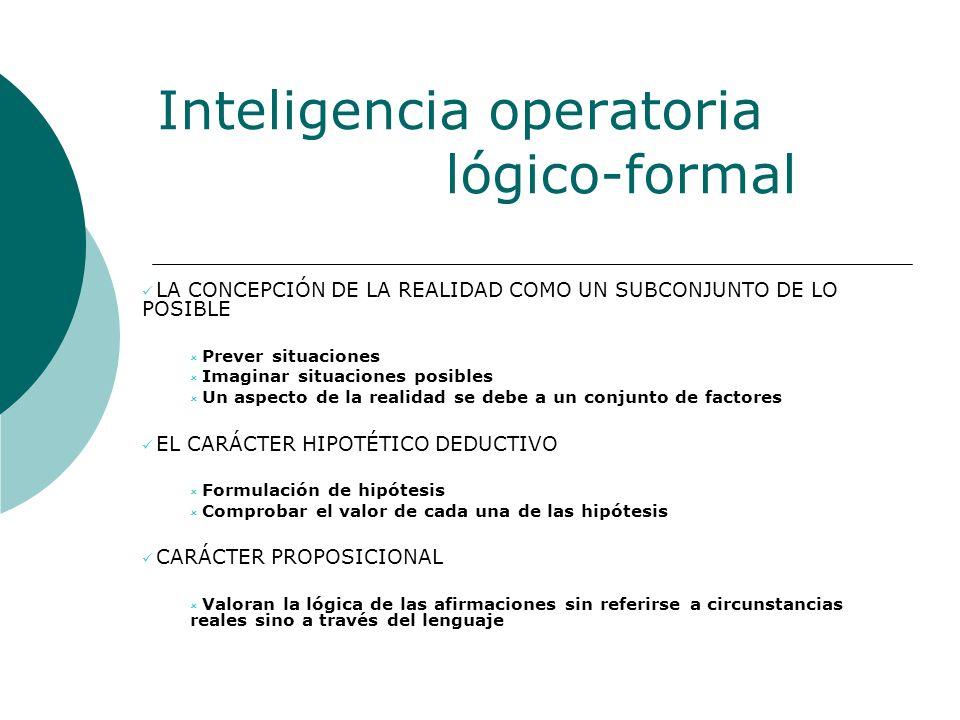 Inteligencia operatoria lógico-formal