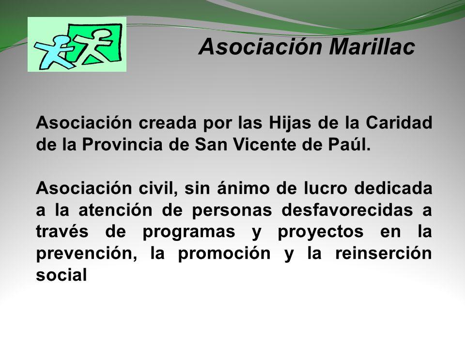 Asociación Marillac Asociación creada por las Hijas de la Caridad de la Provincia de San Vicente de Paúl.
