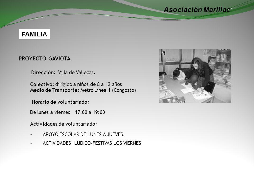 Asociación Marillac FAMILIA Dirección: Villa de Vallecas.