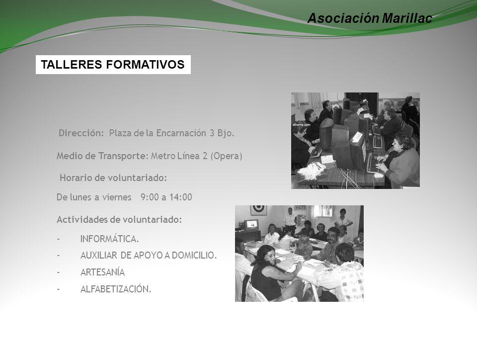 Asociación Marillac TALLERES FORMATIVOS
